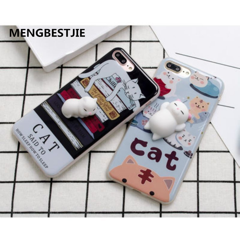 Squishy 3D Soft lazy Cat Soft Silicone Phone Case Cover For iPhone 6/6S/7 PlusSquishy 3D Soft lazy Cat Soft Silicone Phone Case Cover For iPhone 6/6S/7 Plus