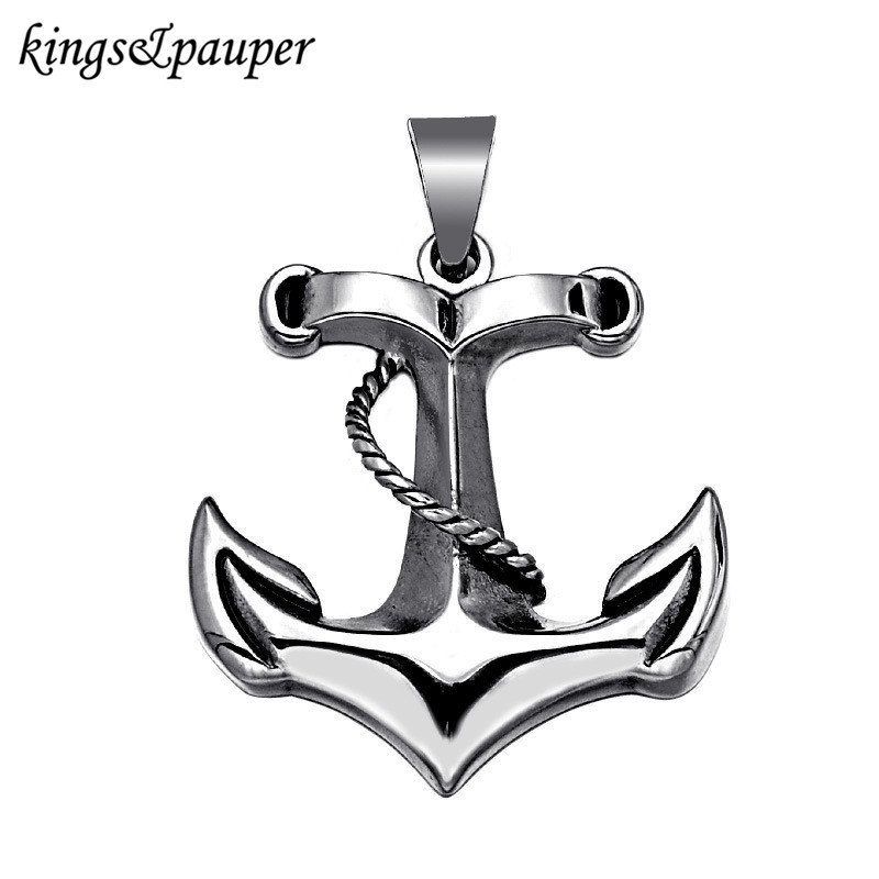 Stainless Steel Sea Ship Unique Sailor Anchor Pendant Charms Keychain for Men Punk Hiphop Jewelry Findings Friends Party Gift