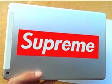 32 pcs Supreme sticker SUP red big size 19x5 8cm waterproof and oilproof computer glass backpack