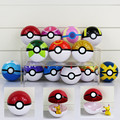 13 Colors Pokeball Trainer Pokeball With Mini Figure Doll 7cm Opening and Closing Poke Ball Present For Kids
