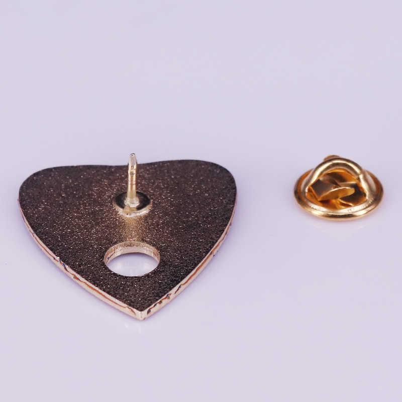 Ouija Board Enamel Pin Penyihir Jalang Lencana Biru Glitter Stars Bulan Bros Pesona Ramalan Perhiasan Gothic Pin Hadiah