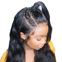 Deep Part 13x6 Lace Front Wig Brazilian Lace Front Human Hair Wigs For Women Natural Black 150% Density You May Vrigin Hair