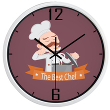Chicken Wall Clock, the Best Chef Decro Watch, Smooth No Ticking Sound