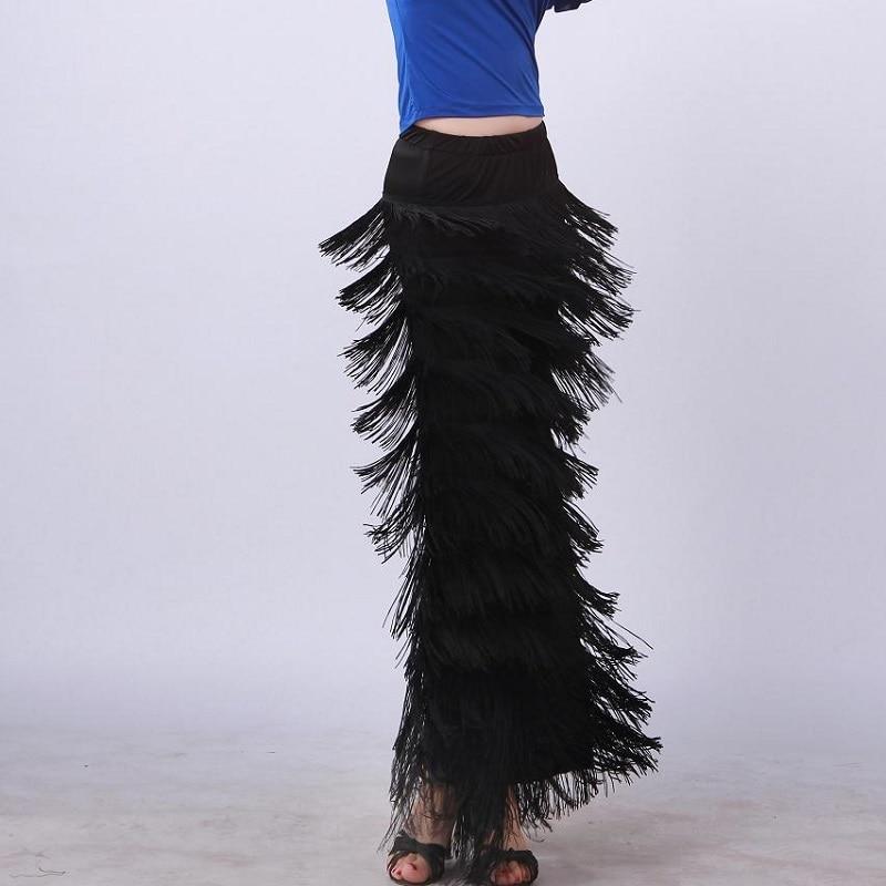 Latin Dance Multiple Layers Tassels Pants Pants Clothes Square Dance Clothes Tassels Genuine