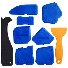 HOT 9 Pieces Sealant Tools Caulking Kit Silicone Remover Sealing Tool for Bathroom Kitchen Room and Frames Sealant Seals(China)