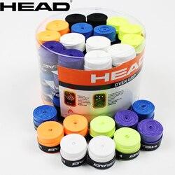 10 unids/lote cabeza raqueta de Tenis PU Overgrip antideslizante sudor absorbido suave Wrap grifos Tenis raqueta amortiguador seco/vibración agarre pegajoso