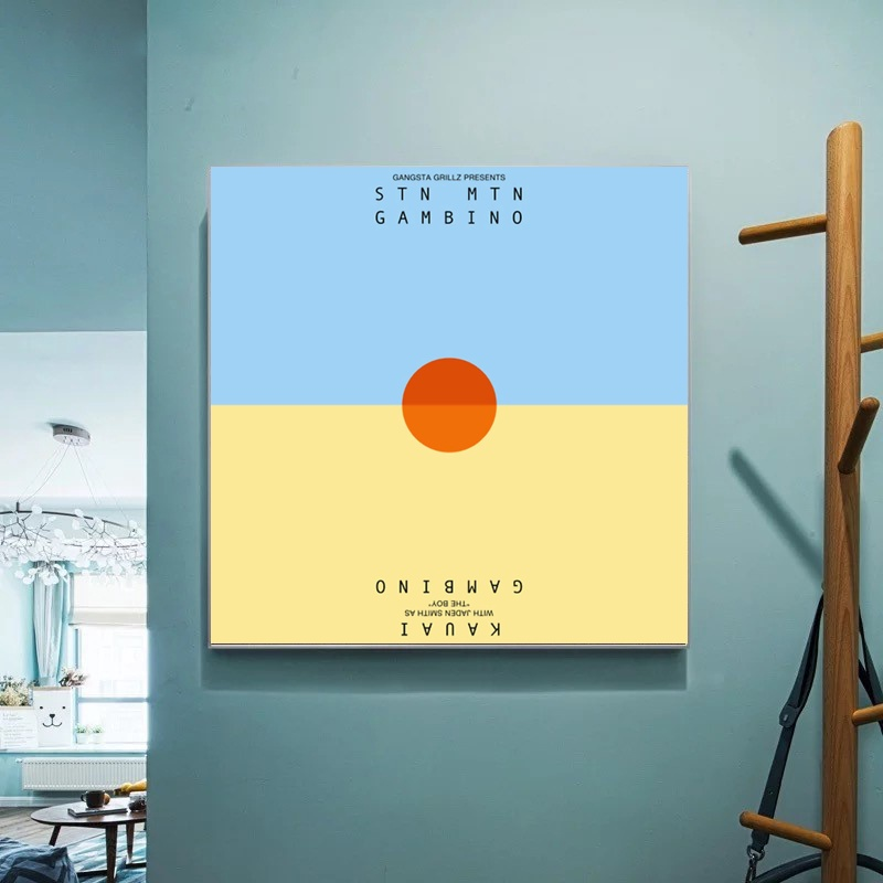 Childish Gambino Poster Stn Mtn Kauai Music Album Canvas Wall