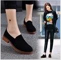 2017 Весной новые Женщины Обувь Из Натуральной Кожи Плоские Каблуки Круглые Пальцы Платформы Женщин Повседневная Обувь
