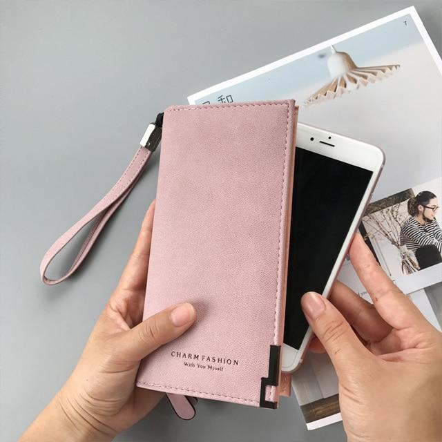 Women Wallets Fashion Lady Wristlet Handbags Long Money Bag Zipper Coin Purse Cards ID Holder Clutch Woman Wallet Purse Notecase 3