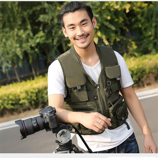 Outdoor Fishing Vest Waterproof Men Waistcoat Multi Pocket Tactical Hunting Military Jacket Camping Photography Vest For Travel
