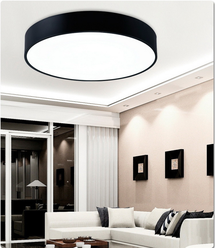 Commercial Kitchen Ceiling Lights: Creative Round Led Ceiling Lamp Living Room Bedroom