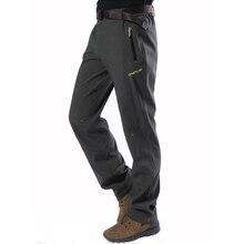 Softshell Pants Men Breathable Thermal Waterproof Pants Men Outdoor Sport Camping Hiking Pants Fleece Outdoor Pants