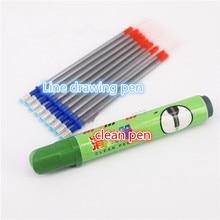 Mercury refill handmade leather scribing tool mercury cleaning pen DIY art type line