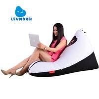 LEVMOON Beanbag Sofa Chair Superman Woman Seat Zac Comfort Bean Bag Bed Cover Without Filler Cotton