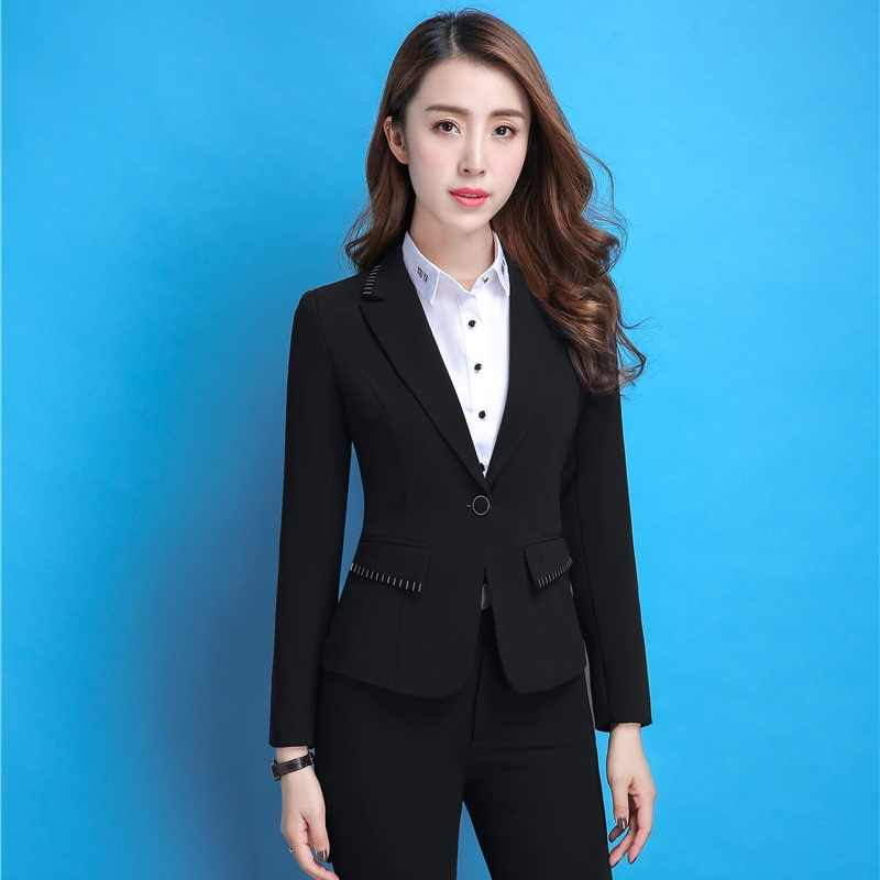 1c9db0754 Fashion Formal Women Blazers and Jackets Purple Ladies Work Wear Blaser  Female Office Uniform Design Style