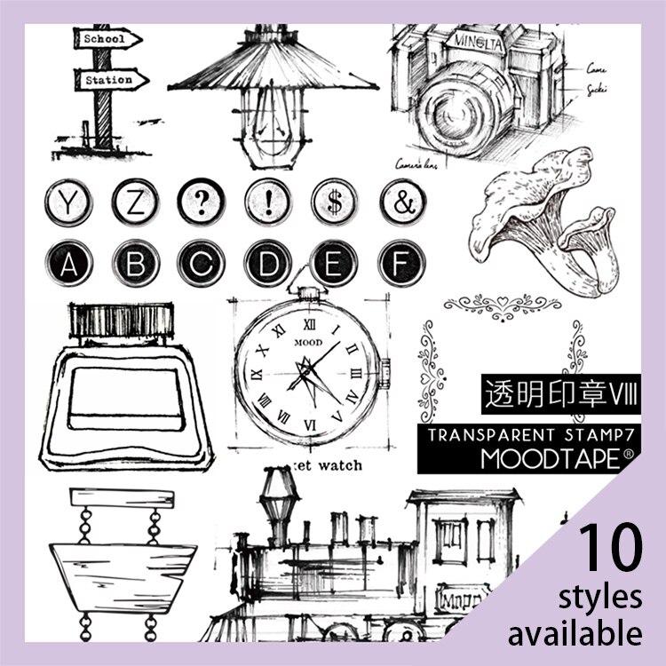 Moodtape Vintage Clear Stamp For DIY Scrapbooking/photo Album Decorative Transparent Stamp Label Flower Typer Rubber Stamp Seal