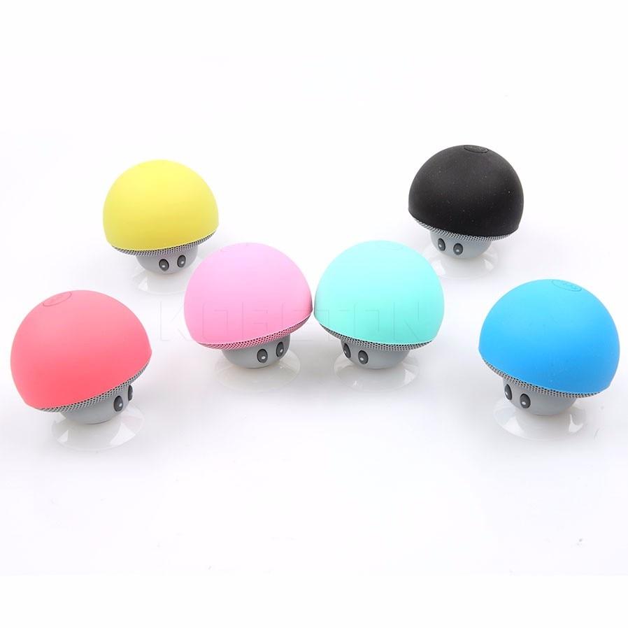 Besorgt Drahtlose Bluetooth Mini Lautsprecher Pilzwasserdicht Silicon Saug Handfree Halter Musik-player Für Iphone 6 6 S Android Pc Bequem Und Einfach Zu Tragen