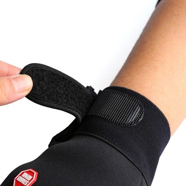 Luvas de ciclismo com suporte para o pulso, luvas para bicicleta com touch screen, antiderrapante e à prova de vento, para uso ao ar livre 3