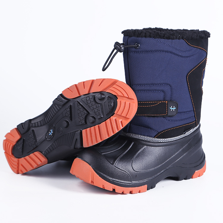 2018 Kids Boys Boots for Boy Snow Shoes Winter Anti-slip Mid-Calf Waterproof Snow Boots Warm Plus Velvet Lining Boots 29-37 недорого