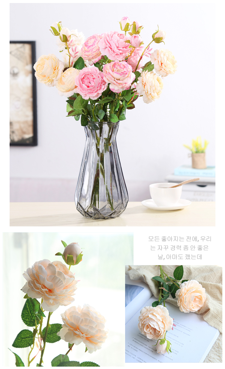 peony artificial roses flowers (2)