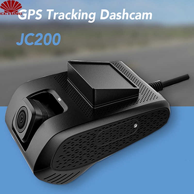 JC200 3G Smart Car GPS Tracking Dashcam with Dual Camera Recording & SOS Live Video View by Free Mobile APP for Commercial Fleet