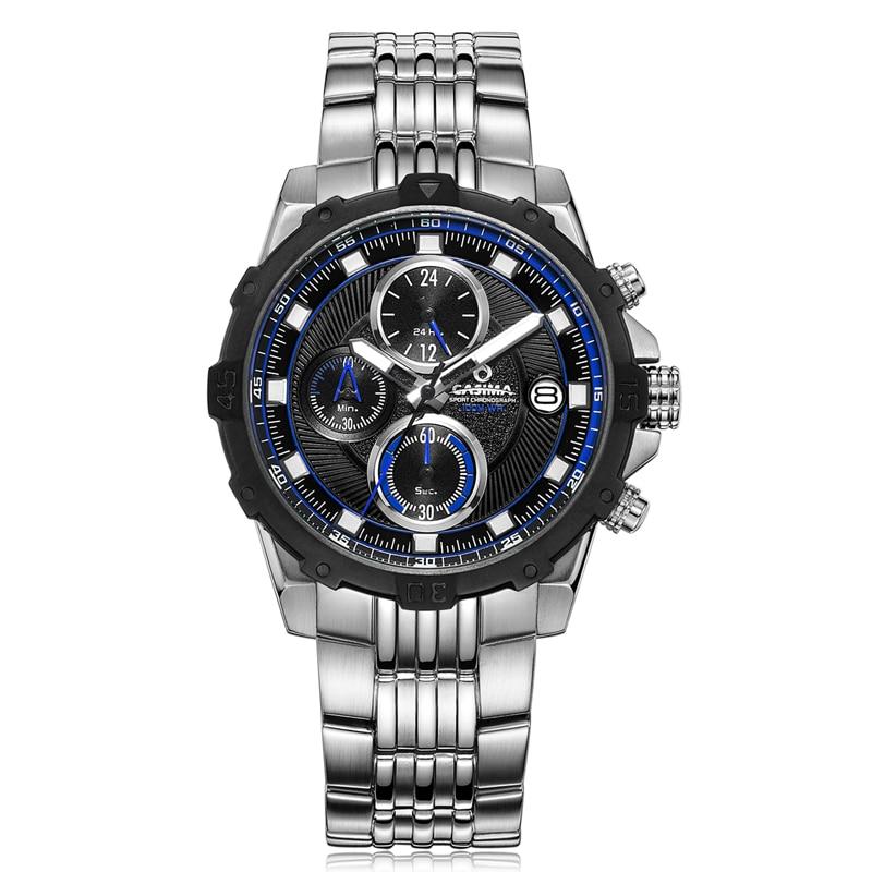Fashion Luxury brand watches men Fashion casual charm chronograph cool sport mens quartz wrist watch waterproof 100mCASIMA 8306 цена и фото