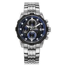 Marca de moda de Lujo relojes de los hombres de Moda casual encanto cronógrafo deporte fresco para hombre de cuarzo reloj de pulsera impermeable 100 mCASIMA 8306