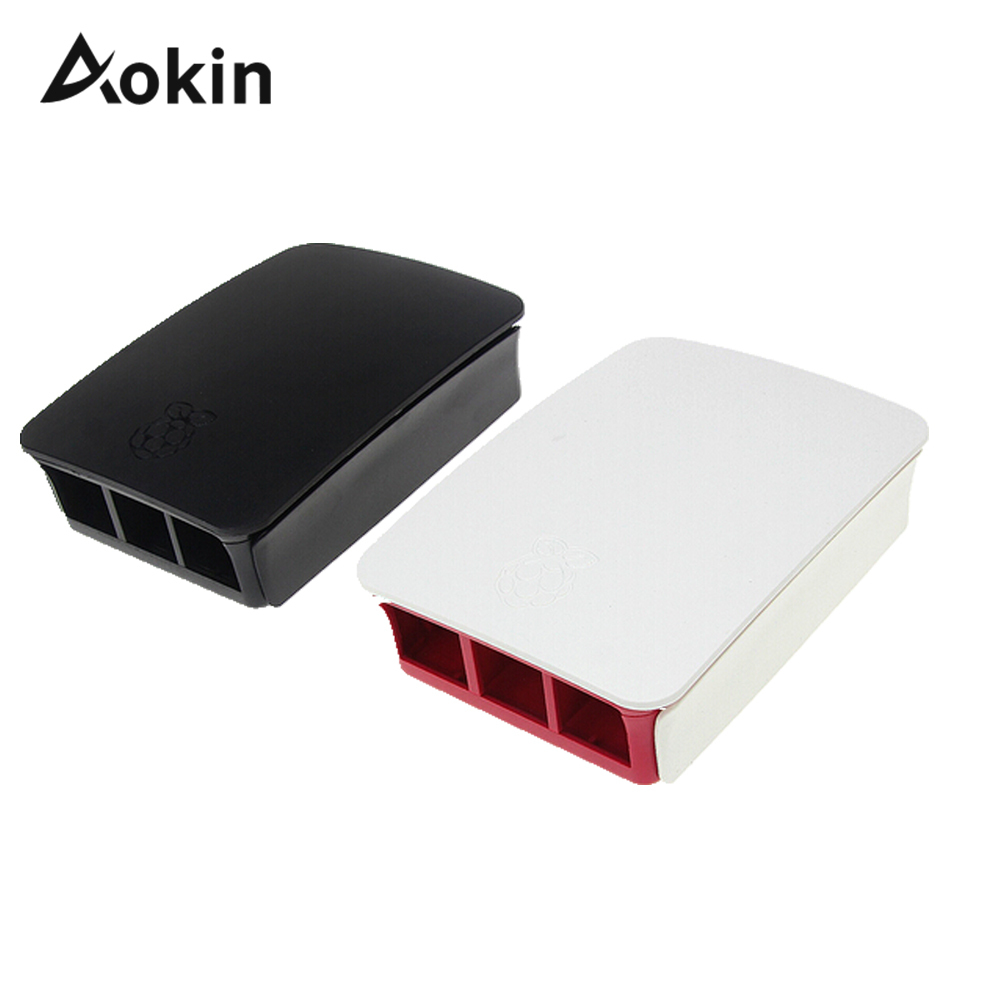 Aokin Case For Raspberry Pi Case Black White Red Protective Shell Cover For Raspberry Pi Couqe 3 B/3/2/ B+ Capa Fundas