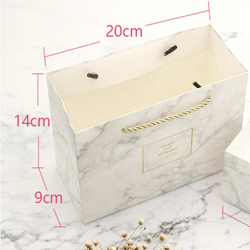 Small Box & Bag in Marble Color 4