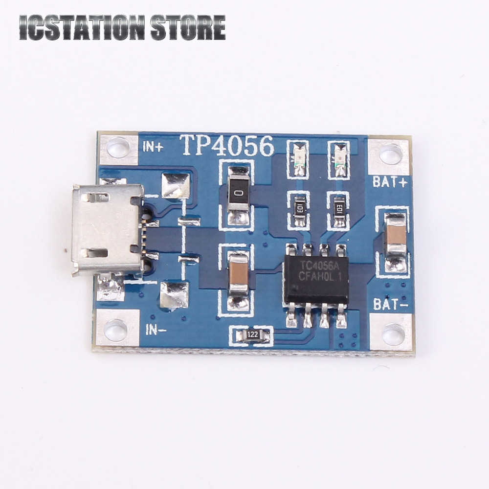 2pcs TP4056 5V Micro USB 1A 18650 Lithium Battery Charging Board Charger Module With Protection 5pcs 5v 1a micro usb 18650 li ion lithium battery charging protection board charger module tp4056 for arduino