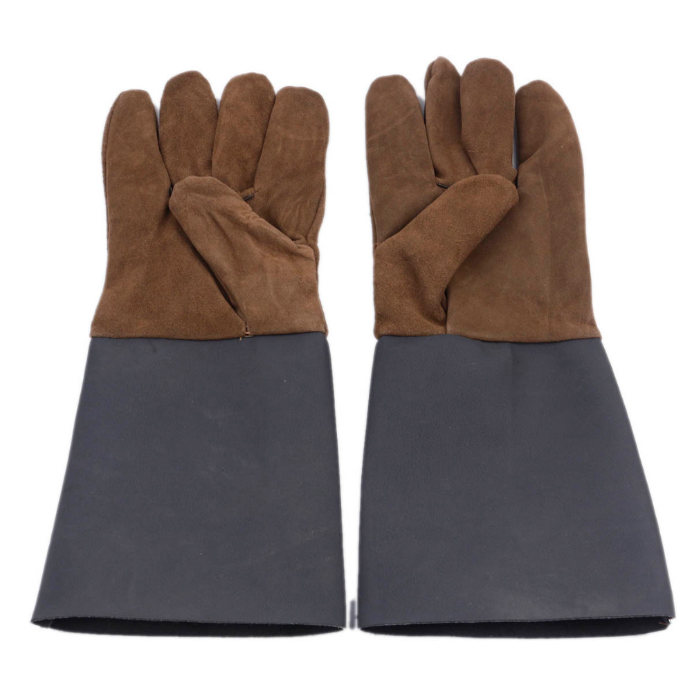 Cow Leather Welder Gloves Anti-Heat Fireproof Work Safety Gloves For Welding Carrying Builder Hands Protection Double Lengthened
