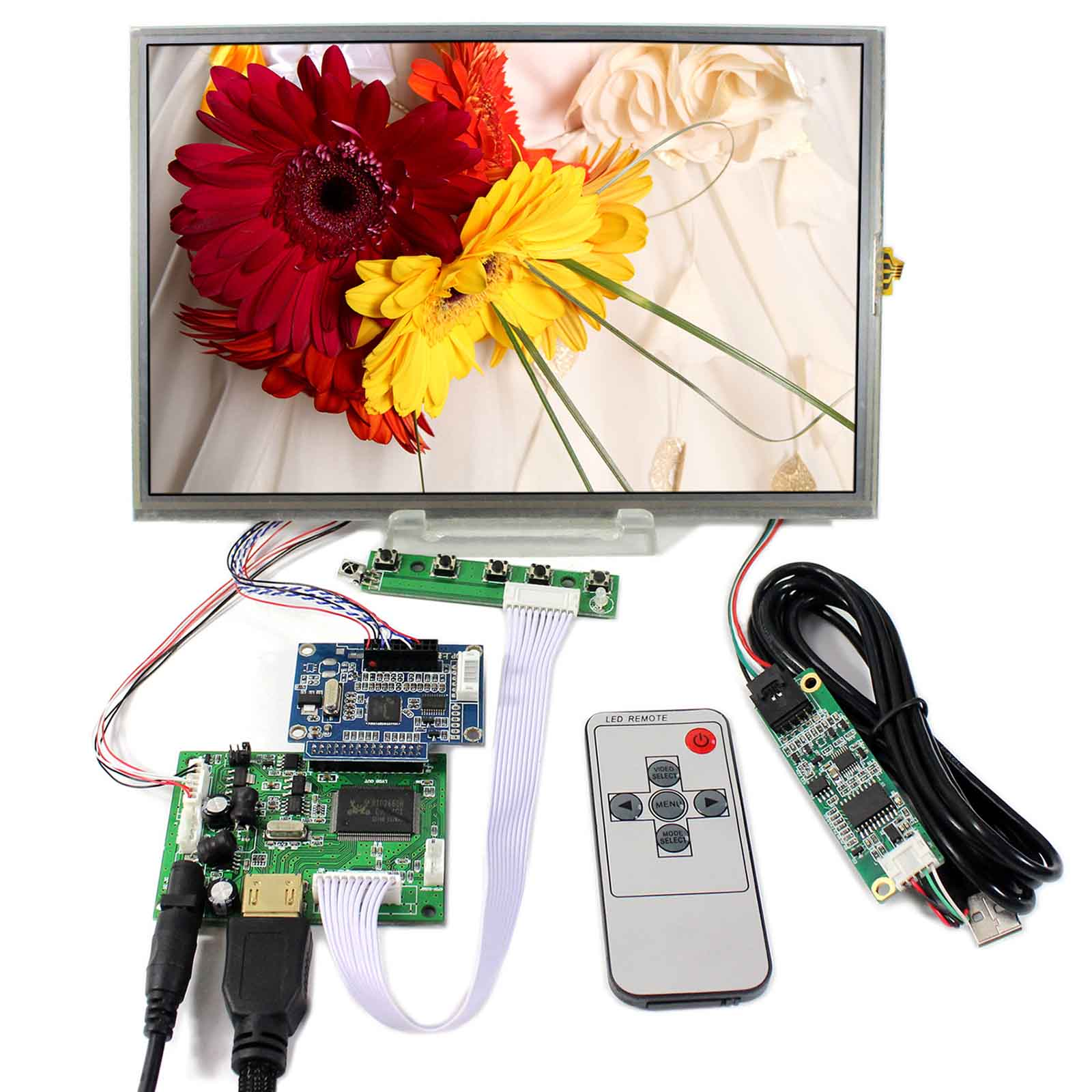 HDMI+LCD Controller Board With 10.1inch 1920x1200 B101UAN01.A IPS Touch ScreenHDMI+LCD Controller Board With 10.1inch 1920x1200 B101UAN01.A IPS Touch Screen