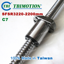 TBI ballscrew 3220 C7 2200 мм с SFS шариковая гайка SFS3220 + конец механической обработке для высокая стабильность ЧПУ комплект