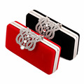 Women Velvet Evening Bag Ladies Rhinestone Crown Chain Clutch Shoulder Hand Bag Bridal Wedding Party Mini Purse bolso XA137H