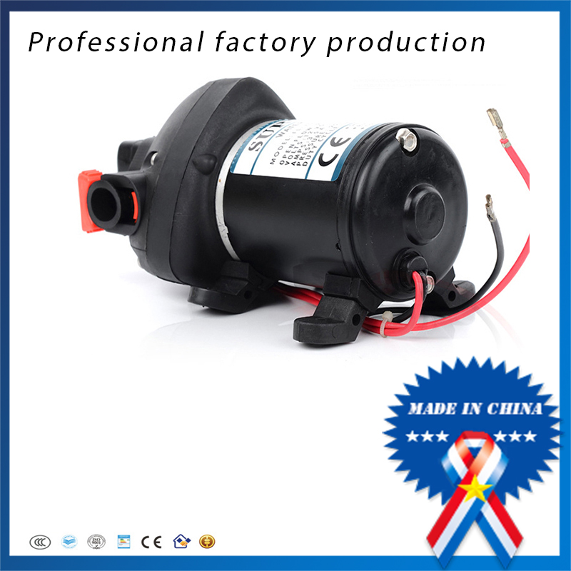 12V 24V DC High Pressure Mini Electric Water Pump Automatic Diaphragm Pump Car Yachts Use FL-703 FL-706 Price: mini water pump zx43a 1248 plumbing mattresses high temperature resistant silent brushless dc circulating water pump 12v 14 4w