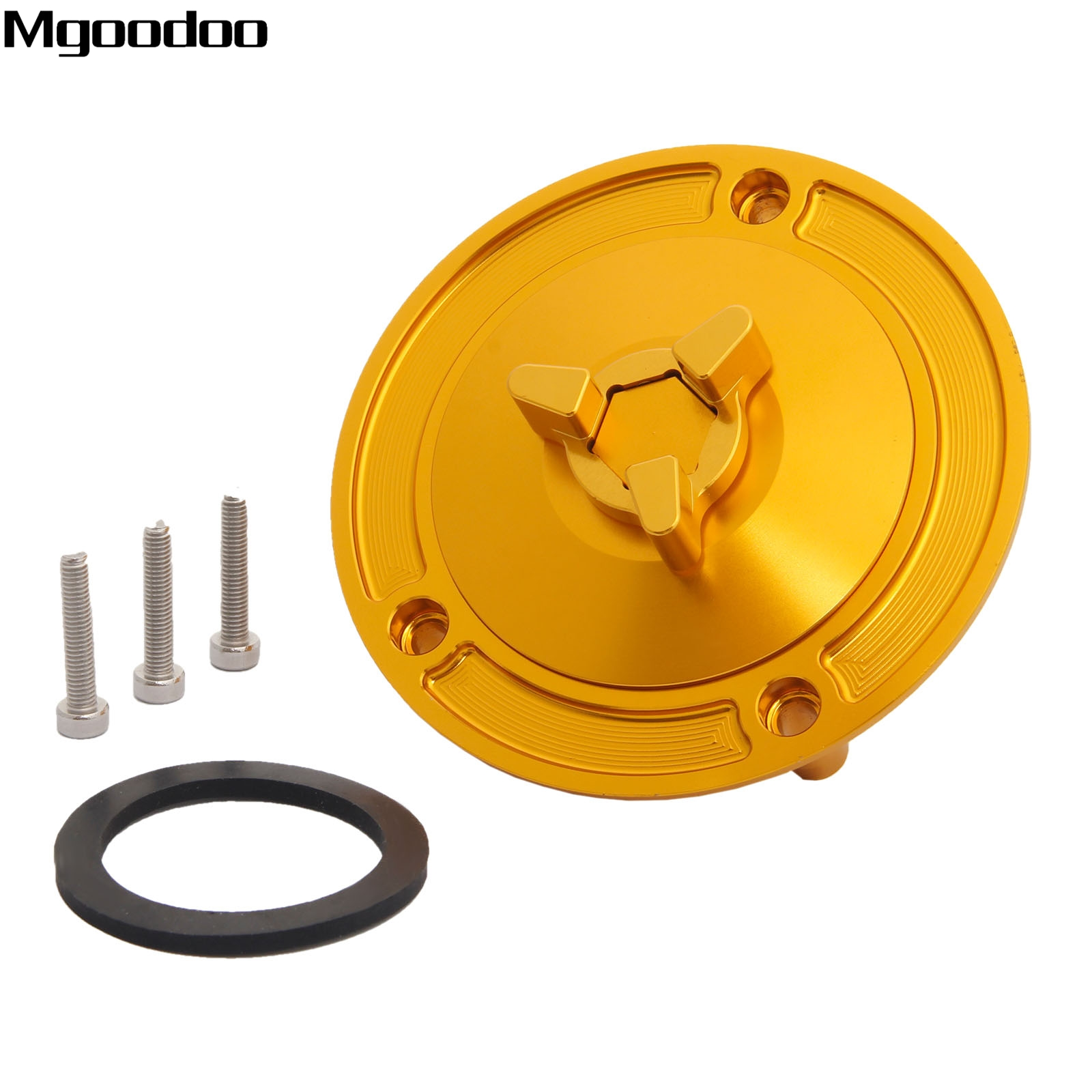 Mgoodoo New CNC Aluminum Fuel Tank Gas Cap Cover For Suzuki GSXR 600 750 1000 GSXR 1300 Hayabusa SV650/SV650S SV1000/SV1000S high quality motorcycle parts aluminum alloy gas fuel petrol tank cap cover fuel cap for honda cbr 929 954 rc51 all years