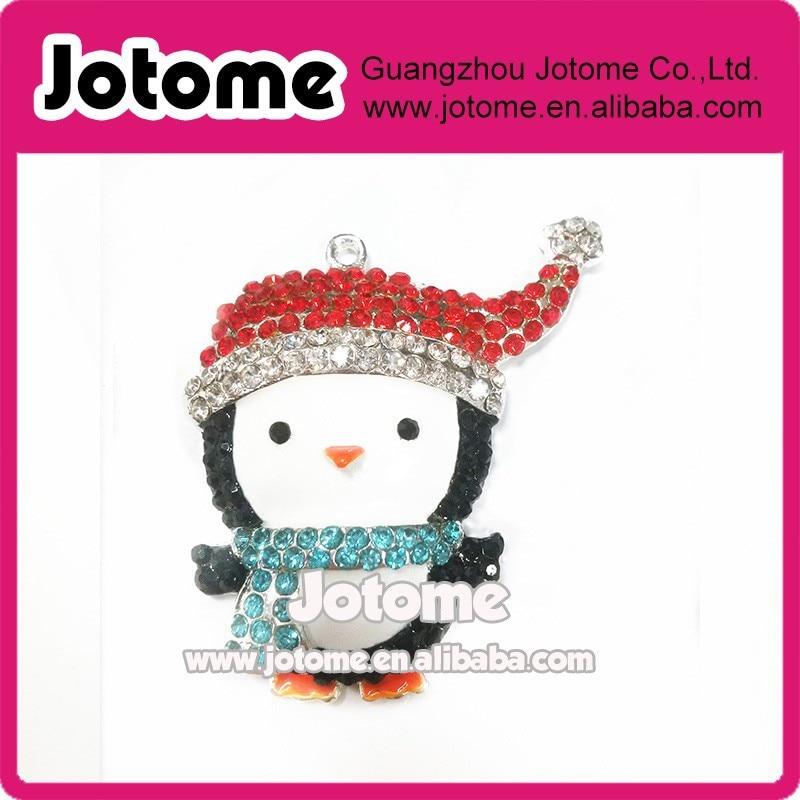 ٩(^‿^)۶2016 Navidad muñeco pingüino esmalte rhinestone cristal ...