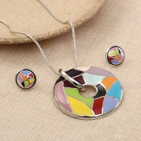 New Classical Brand Designer Jewelry Sets Trendy Party Wedding Colorful Necklaces Earrings Sets Gifts For Women