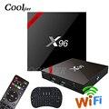 COOLJIER X96 Dispositivo de TV inteligente Android 7,1 WIFI Quad Core TV box s905w 1GB 2GB de ram 8GB 16GB ROM 4K reproductor de medios X96W set top box