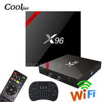 COOLJIER X96 inteligente caixa de tv Android 7.1 WI-FI caixa de tv Quad core s905w 1GB 8GB 16 2GB de ram GB ROM X96W 4K Media Player set top box