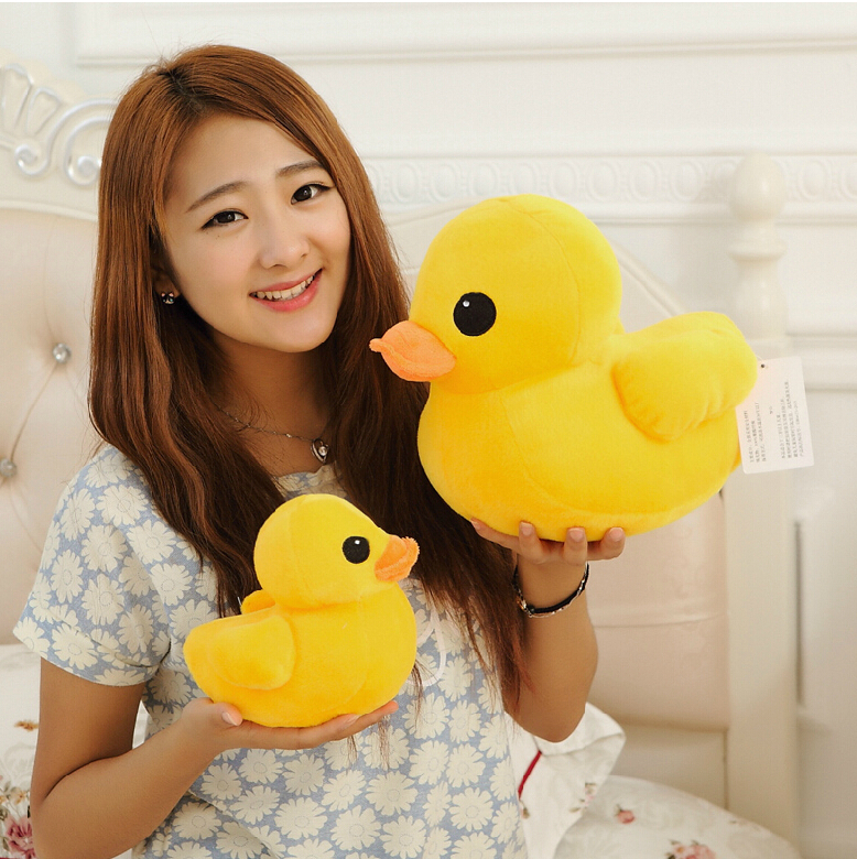 12''30CM New Arrival Stuffed Dolls Rubber Duck Hongkong Big Yellow Duck Plush Toys Best Gift for Kids Girls Christmas Gifts new hot sale plush stuffed toys big yellow duck plush stuffed duck doll for children cotton soft free shipping