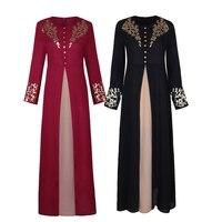 Abaya for Women Turkey 2019 News Hot Stamping Print Islamic Clothing Kaftan Muslim Dress Long Robe Dubai Ramadan Party Elegant