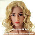 #31 Top quality real silicone sex dolls head for love doll, oral sex toys for men, adult doll heads