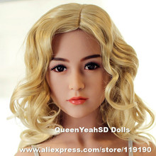 31 Top quality real silicone sex dolls head for love doll oral sex toys for