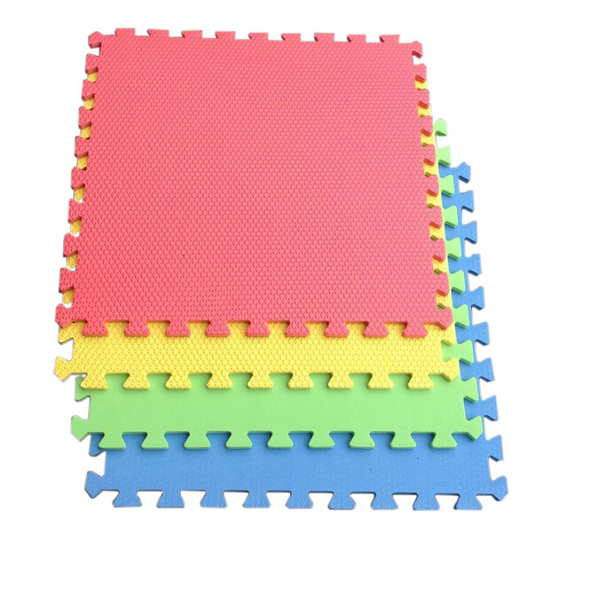 10 Pieces Solid Soft Eva Foam Mat Baby Crawling Mat
