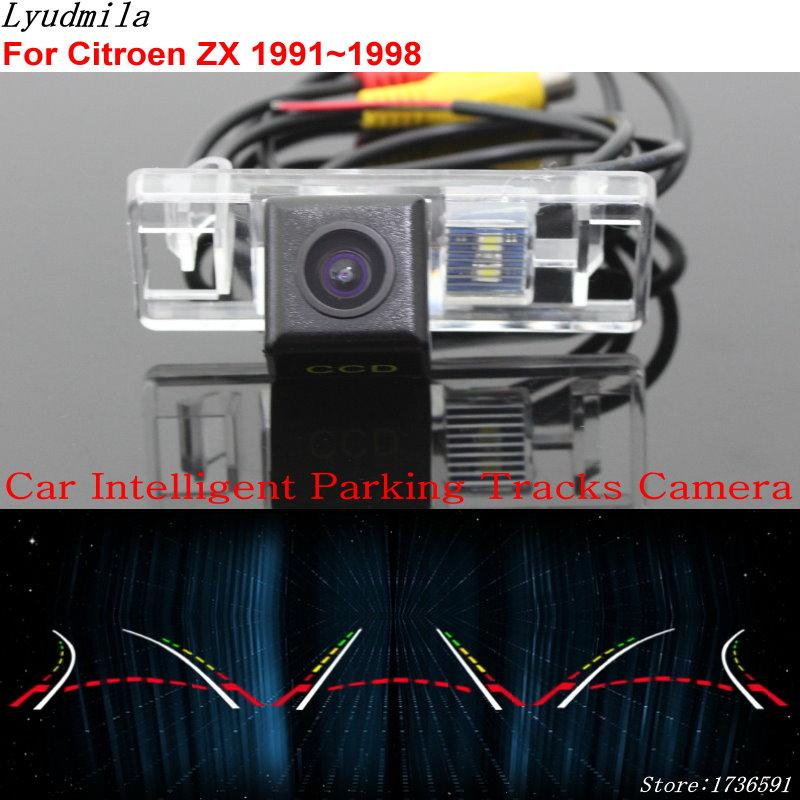 Lyudmila Car Intelligent Parking Tracks Camera FOR Citroen ZX 1991~1998 Back up Reverse Rear View Camera