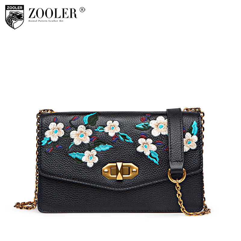 2018 stylish woman bag ZOOLER Mini-genuine leather bag National woman messenger bag designed chain B229 sales zooler 2017 new designed woman bag 100