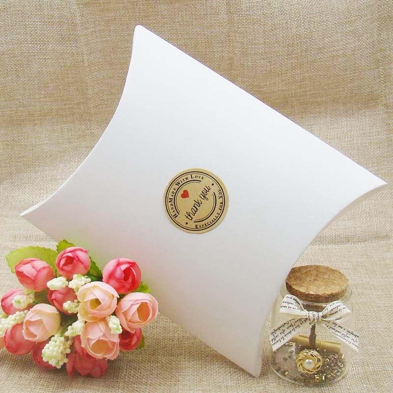50Pieces/lot Kraft/white/black Pillow Shape Wedding Favor Gift Box Party Candy Box Wholesales Pillow boxes