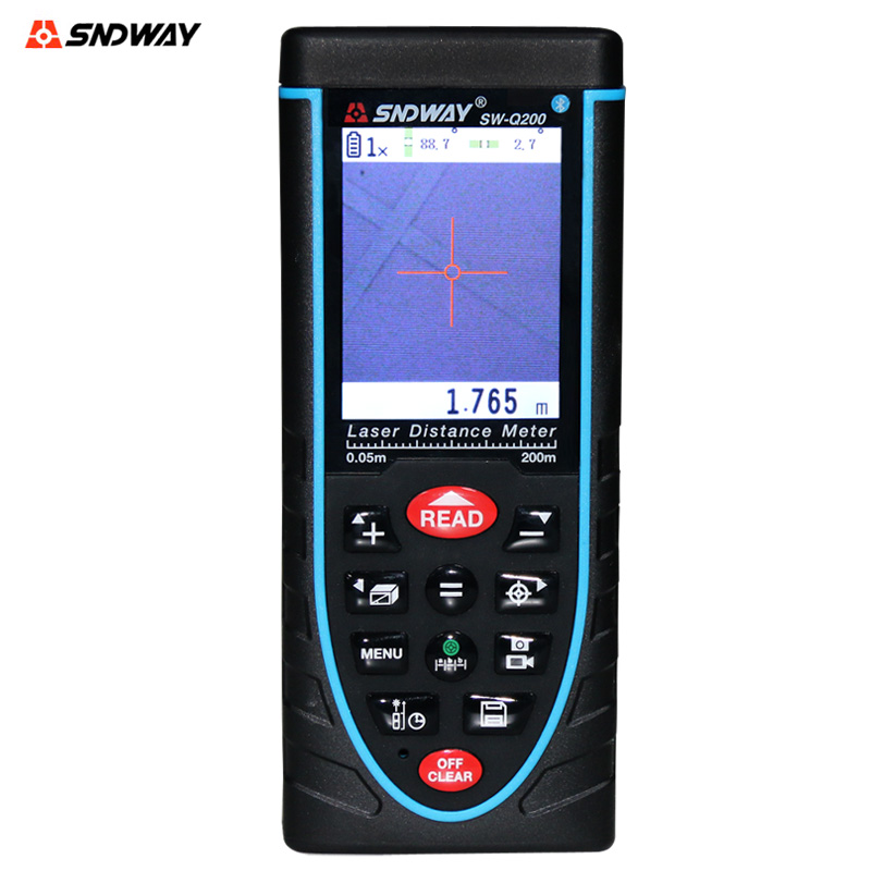 SNDWAY SW-Q200 Handheld Digital laser Distance Meter Rangefinder 200M Distance Measurer Tape With Bubble level  цены