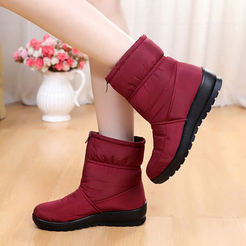 Fashion  Boots Women Ankle Shoes New Arrival 2018 Snow Boots Winter Keep Warm Shoes Female Footwear Big Sizes